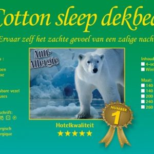 COTTON SLEEP DEKBEDDEN